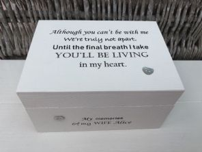 Personalised In Memory Of A Loved One ~ Box ~ WIFE ~ any Name Bereavement Loss - 253568138788